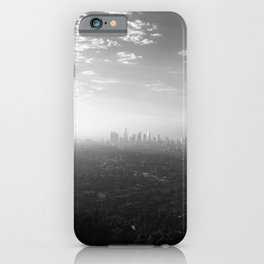 Los Angeles. L.A. Skyline. Black and White. Jodilynpaintings. Sunrise. Sunset. Cityscape. California iPhone Case