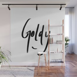 goldy typography Wall Mural