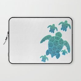 A Family of Sea Turtles Laptop Sleeve
