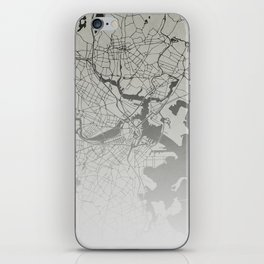 Boston - Vintage Map and Location iPhone Skin