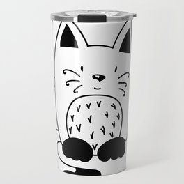 CAT EXPECTING TO EAT Travel Mug