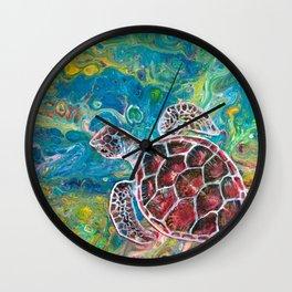 Sea Turtle Dream Wall Clock