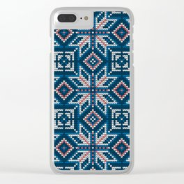 Pattern in Grandma Style #54 Clear iPhone Case