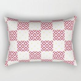 Geometric Minimalist Diamond Pattern Rectangular Pillow