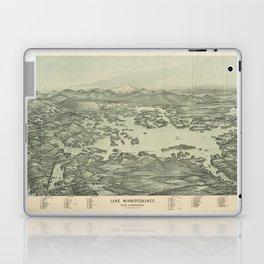 Vintage Pictorial Map of Lake Winnipesaukee (1903) Laptop & iPad Skin