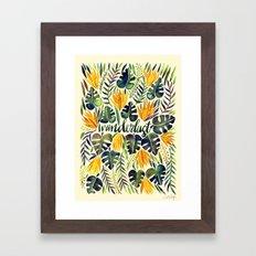 Tropical Wanderlust – Orange & Emerald Framed Art Print