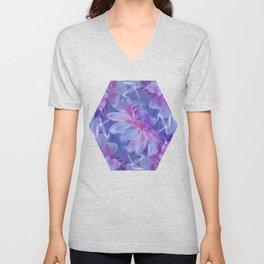 Abstract Dahlia fractal Unisex V-Neck