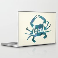 maryland Laptop & iPad Skins featuring Maryland Blue Crab Local by O'Postrophy