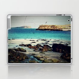 Dinosaur Beach - Retro look fine art canvas print Laptop & iPad Skin