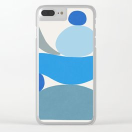 Blue Scoop \\ Abstract Clear iPhone Case