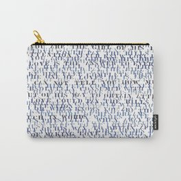 Sentences of Love Blue Carry-All Pouch