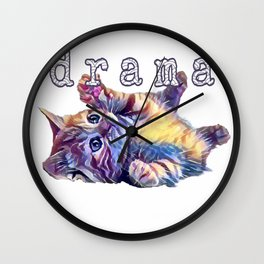Kitten drama Wall Clock