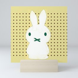 My Lips Are Sealed (Polka Dot Version) Mini Art Print