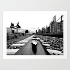 Train track stiletto Art Print