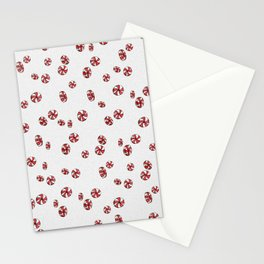 Peppermint Candy in White Stationery Cards
