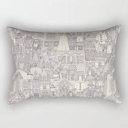 vintage halloween purple ivory Rectangular Pillow