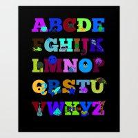 Learn Your Alphabet! Art Print