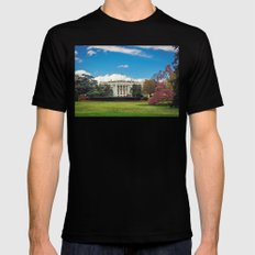White House in Spring MEDIUM Mens Fitted Tee Black