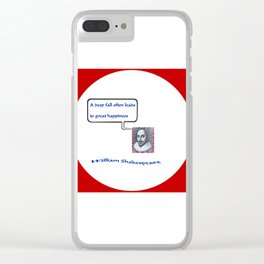"""Willshakespeare"" TNT Clear iPhone Case"