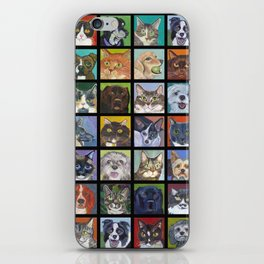 Cats and Dogs in Black iPhone Skin