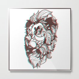 3D-Lion Metal Print