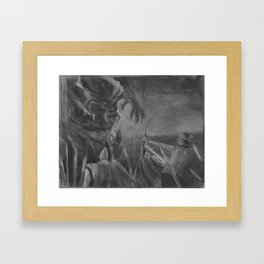 What are you drawing Ryan? // 170 Framed Art Print