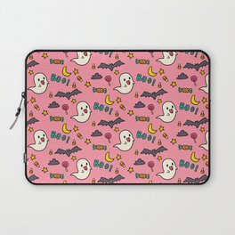 Happy Halloween ghosts, bats, boo and sweets pattern Laptop Sleeve