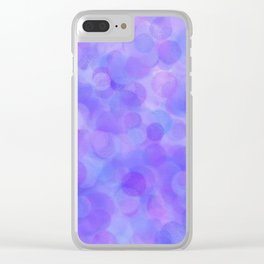 Ultra Violet Pastel Polka Dots Clear iPhone Case