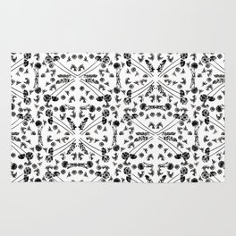 Bird & Flower Pattern Rug