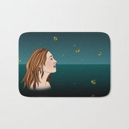 Swimming With Fireflies Bath Mat