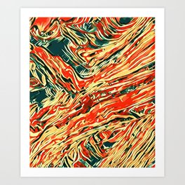 abstract paint art Art Print