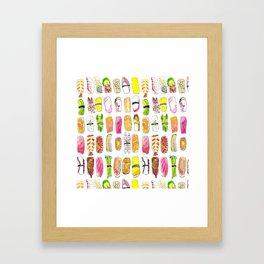 Sushi Watercolor-- Nigiri Sushi Framed Art Print