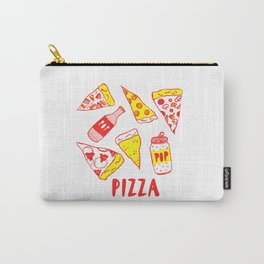 Pop N Pizza Graphic Carry-All Pouch