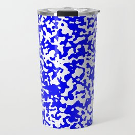 Small Spots - White and Blue Travel Mug