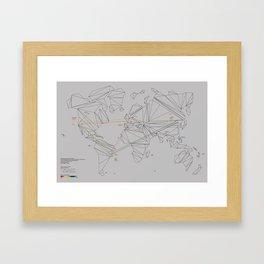 Traveling through consumerism Framed Art Print