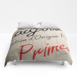 Red Red Wine Comforters