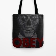 They Live. Obey. Screenplay Print. Tote Bag