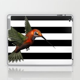 Colorful Hummingbird & Horizontal Stripes Laptop & iPad Skin