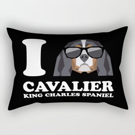 I Love Cavalier King Charles Spaniel modern v2 Rectangular Pillow