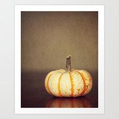Yellow and White Pumpkin Art Print