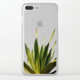 Palm Leaves #5 Clear iPhone Case