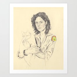 wip of Ripley with Jones Art Print