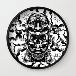 Face helmet Wall Clock