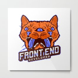 Front End Developer - Solve Problems Metal Print