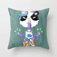 Creepy Cutie Throw Pillow