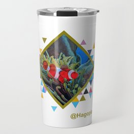 Eco Mural Project 2: Symbiosis: Clownfish and Sea Anemone  Travel Mug