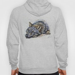 Wolf watercolor Hoody