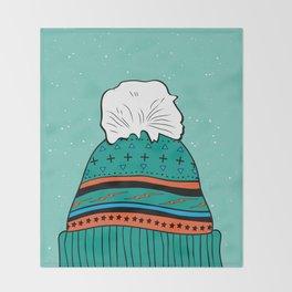 Winter Beanie Throw Blanket