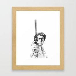 Harry Callahan - Clint Eastwood Framed Art Print