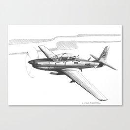 Super Tucano - Venezuelan Air Force Canvas Print